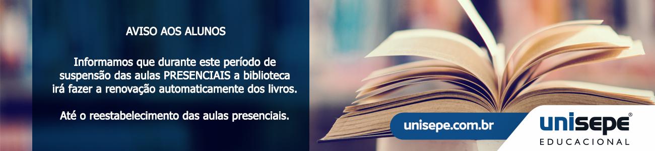 Aviso biblioteca - Instituto de Educação Superior de Pouso Alegre | UNISEPE