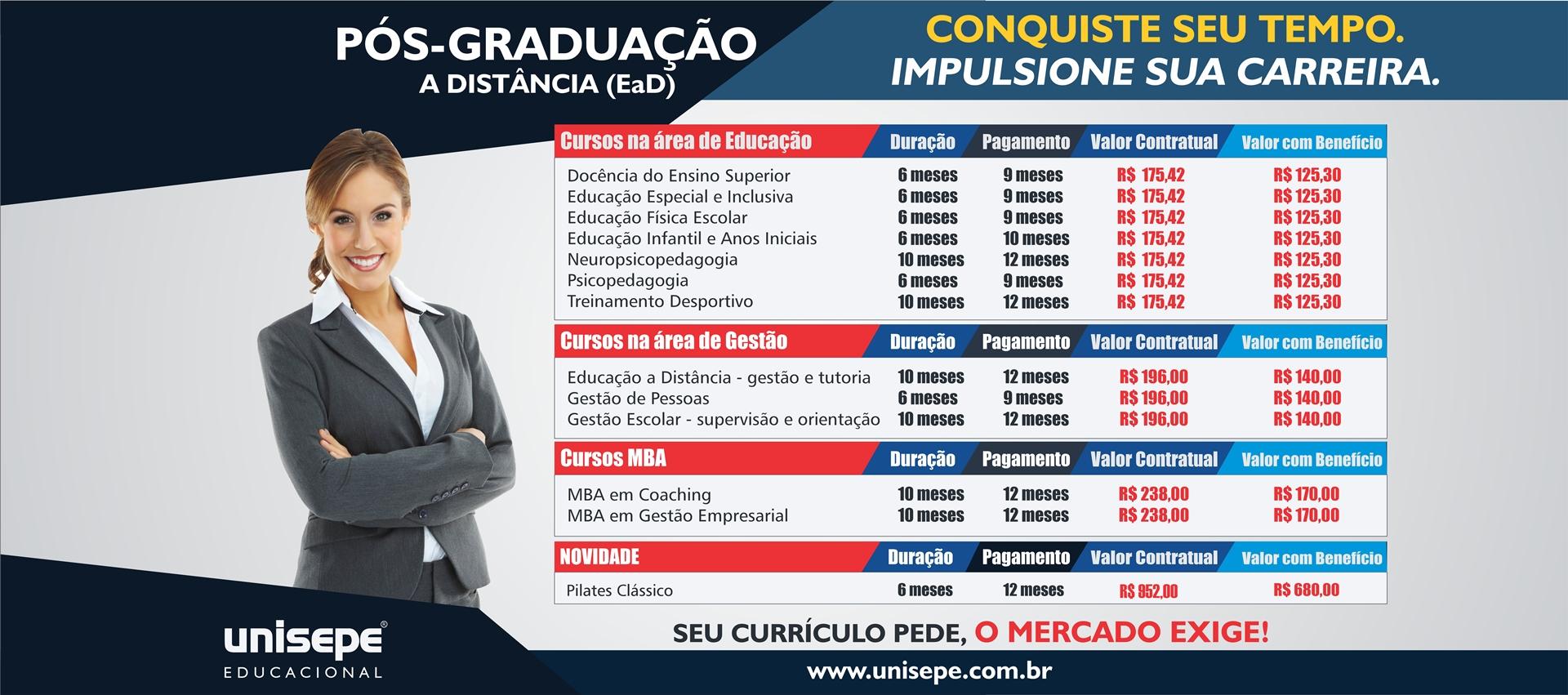 Pós graduação EAD - Graduação digital | UNISEPE