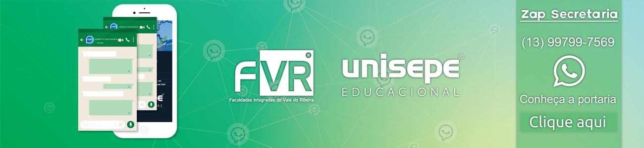 zap secretaria - Faculdades Integradas do Vale do Ribeira | UNISEPE