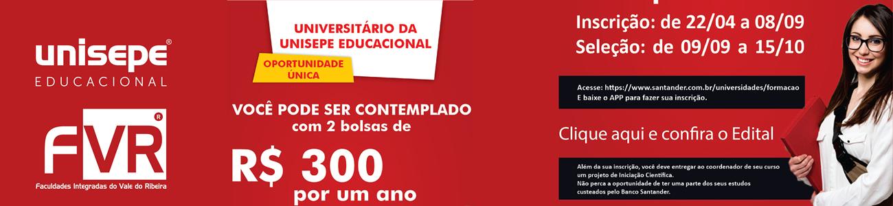 santander bolsa - Faculdades Integradas do Vale do Ribeira | UNISEPE