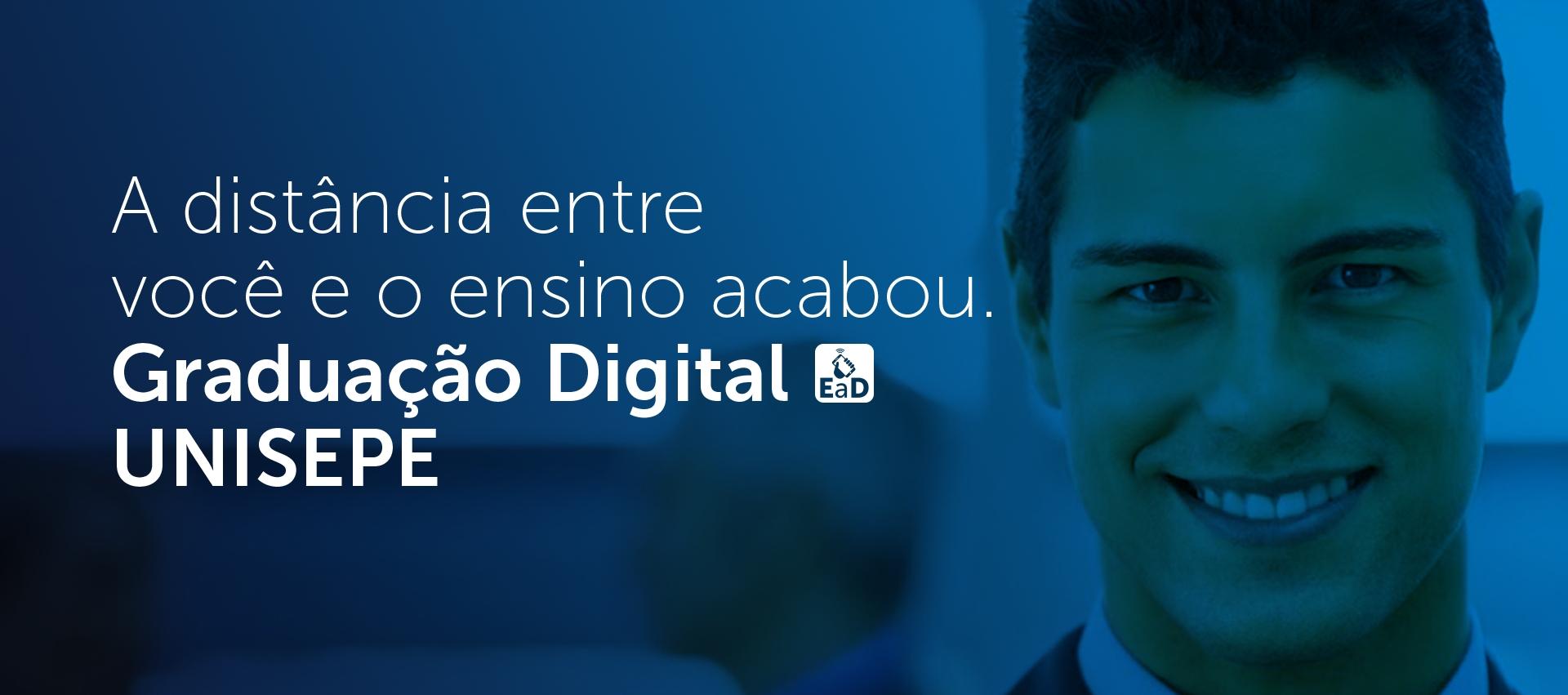 A distância entre você e o ensino acabou - Graduação digital | UNISEPE