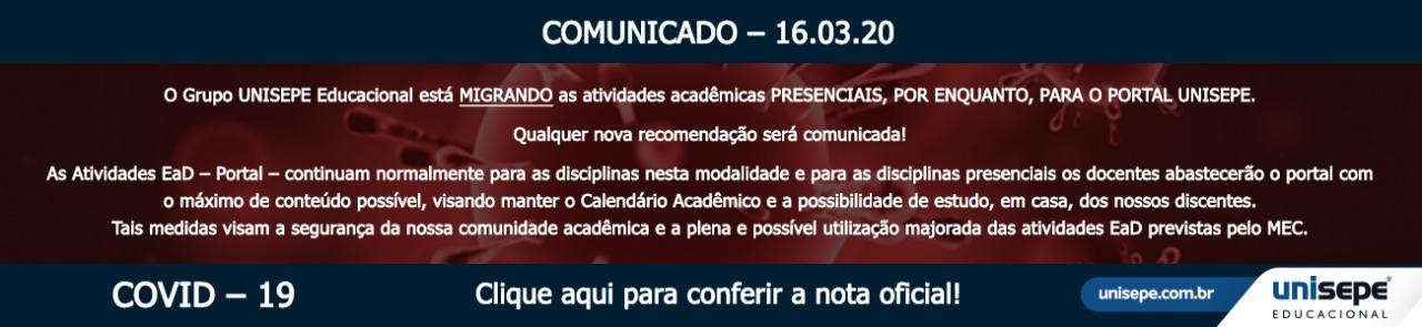 COVID 19 SLIDE 1 - Faculdade Peruíbe | UNISEPE